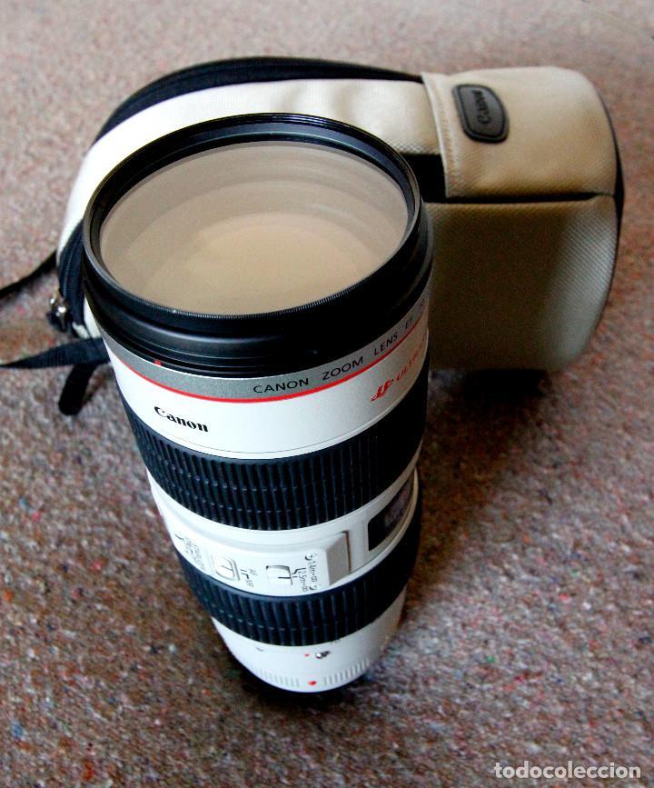 Cámara de fotos: Objetivo Canon EF 70-200 mm / 1:2,8 L USM Ultrasonic - Como nuevo Impecable estado - Foto 4 - 98773259