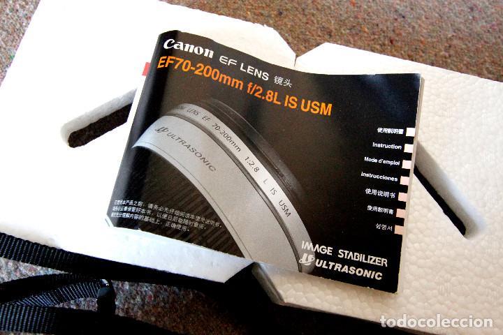 Cámara de fotos: Objetivo Canon EF 70-200 mm / 1:2,8 L USM Ultrasonic - Como nuevo Impecable estado - Foto 13 - 98773259