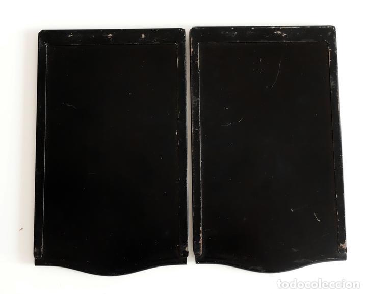 2 ANTIGUOS CHASIS - PORTA PLACAS- PARA CÁMARA RIETZCHEL 6,5 X 9 (Cámaras Fotográficas Antiguas - Objetivos y Complementos )