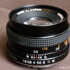 Cámara de fotos: ÓPTICA YASHICA ML F1.9-50MM, CONTAX ANALÓGICO. Lote 99558103