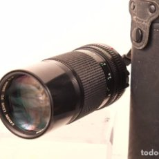 Cámara de fotos: OBJETIBO CANON 200.MM F.D 1,4 ESTUCHE Y TAPAS FILTRO 55. Lote 99943375