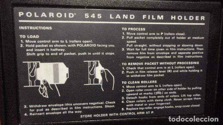 Cámara de fotos: POLAROID. 4 X 5 LAND FILM HOLDER Nº 545. USA AÑOS 70? - Foto 3 - 218559757