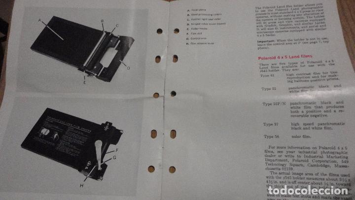 Cámara de fotos: POLAROID. 4 X 5 LAND FILM HOLDER Nº 545. USA AÑOS 70? - Foto 9 - 218559757