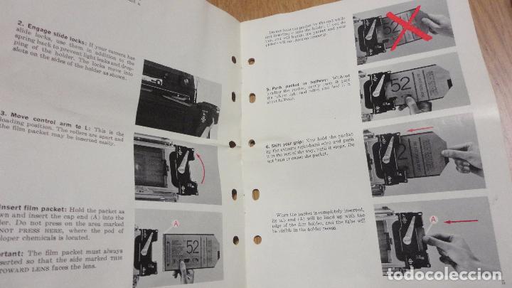Cámara de fotos: POLAROID. 4 X 5 LAND FILM HOLDER Nº 545. USA AÑOS 70? - Foto 10 - 218559757