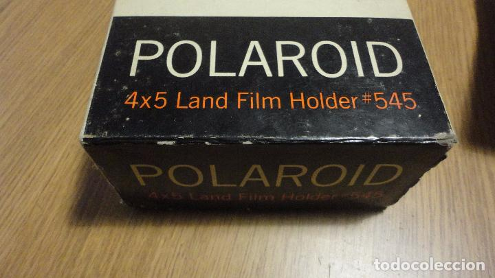 Cámara de fotos: POLAROID. 4 X 5 LAND FILM HOLDER Nº 545. USA AÑOS 70? - Foto 16 - 218559757