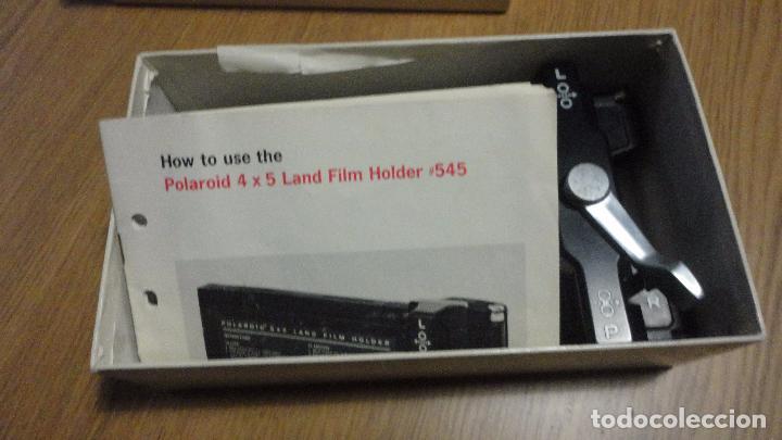 Cámara de fotos: POLAROID. 4 X 5 LAND FILM HOLDER Nº 545. USA AÑOS 70? - Foto 19 - 218559757