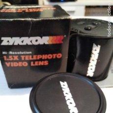 Cámara de fotos: OBJETIVO ZYKKOR 1,5 X TELÉPHOTO CON CAJA FUNDA E INSTRUCCIONES. Lote 100422363
