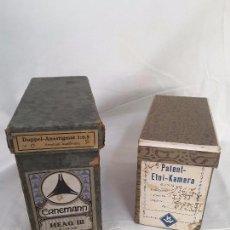 Cámara de fotos - Cajas de embalaje originales, Ernemann y Etui, años 10. - 101028291