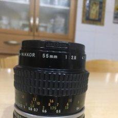 Cámara de fotos: MICRO NIKON 55MM 2.8. Lote 101960107
