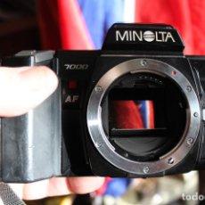 Cámara de fotos: CUERPO MINOLTA 7000 + CORREA. Lote 103536947
