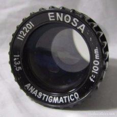 Cámara de fotos: OBJETIVO DE PROYECTOR ENOSA ANASTIGMATICO F=100 MM PLÁSTICO O BAQUELITA. Lote 105304455