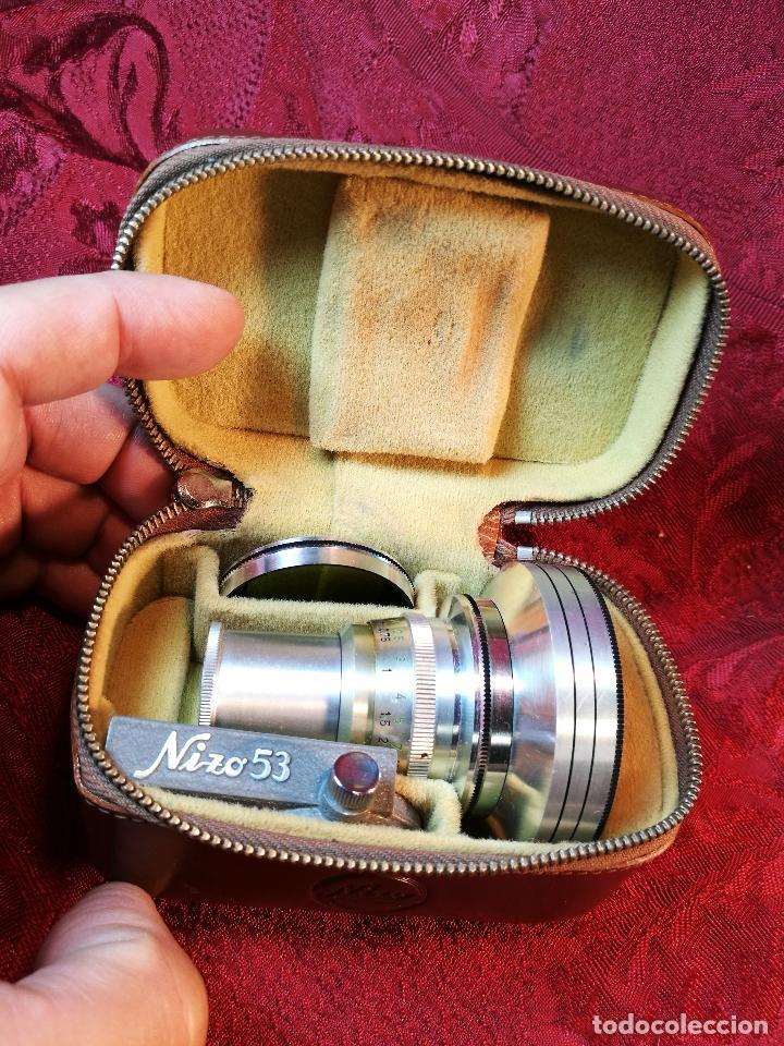 OBJETIVO Y ACCESORIOS PARA TOMAVISTAS FILMADORA NIZO AÑOS 40-50-SCHNEIDER KREUZNACH CURTAR 0,5 X (Cámaras Fotográficas Antiguas - Objetivos y Complementos )