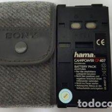 Cámara de fotos: BATERIA PACK CAMARA DE VIDEO - HAMA CAMPOWER - CP 407 - CON FUNDA -. Lote 105789831