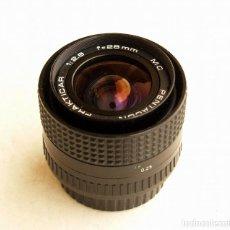 Cámara de fotos: PENTACON PRAKTICAR MC F2.8 28MM OBJETIVO ANGULAR (WIDE LENS) • MONTURA BAYONETA PB. Lote 105857039