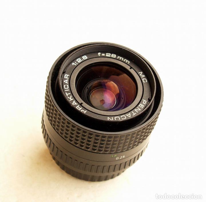 Cámara de fotos: Pentacon Prakticar MC f2.8 28mm OBJETIVO ANGULAR (Wide lens) • Montura bayoneta PB - Foto 7 - 105857039