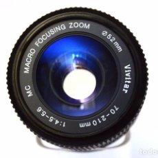 Cámara de fotos: VIVITAR 70-210MM F 4.5-5.6 MC MACRO 1.5X FOCUSING ZOOM OBJETIVO PARA MINOLTA MC. Lote 105885015