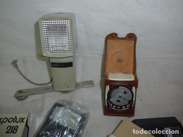 Cámara de fotos: Lote de 4 complementos antiguo de camara fotografica. Flash, antigua. Original. - Foto 4 - 108530411