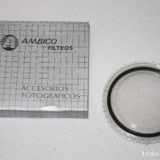 Cámara de fotos: FILTRO SKYLIGHT AMBICO 1A PARA OBJETIVOS / ÓPTICAS DE 77MM. Lote 110308799