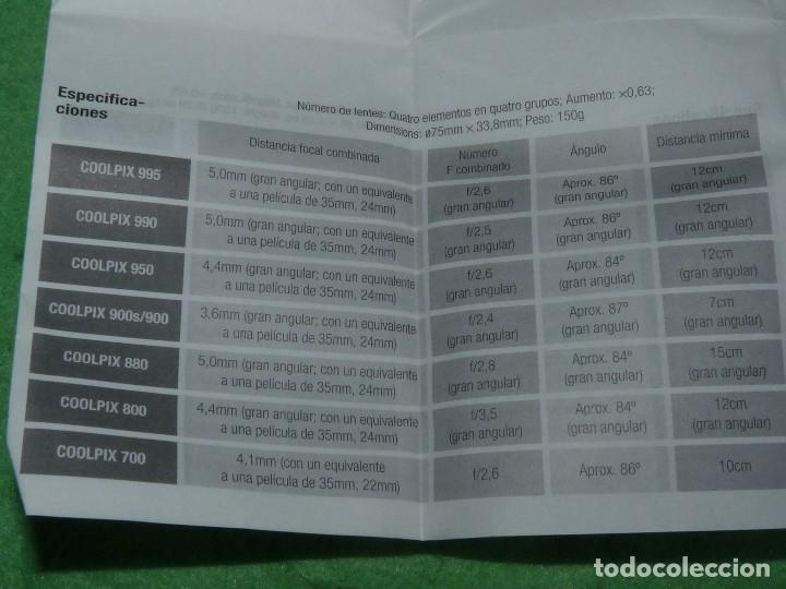 Cámara de fotos: Divertido objetivo Nikon WC-E63 convertidor Wideangle gran angular Made in Japan - Foto 8 - 110516711