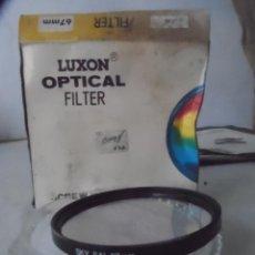 Cámara de fotos: FILTRO CAMARA FOTO LUXON OPTICAL 67 MM - 1A -NUEVO . Lote 111421055