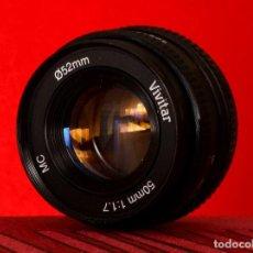 Cámara de fotos: OBJETIVO VIVITAR 50 MM. 1:1.7 MC COMO NUEVO MONTURA PENTAX K VINTAGE. Lote 112618627