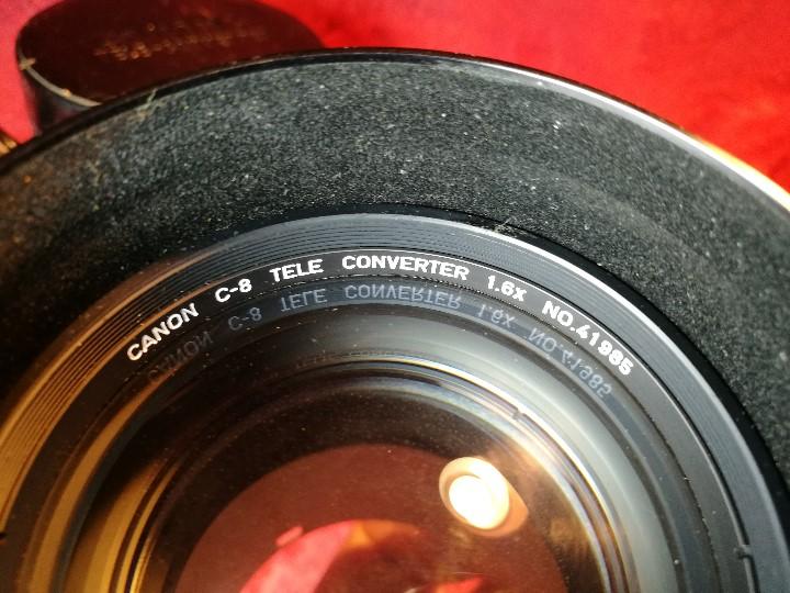 Cámara de fotos: OBJETIVO CANON C-8 TELE-CONVERTER 1,6X N0.41985, CON FUNDA ORIGINAL EN PIEL.impecable !!!! - Foto 9 - 178148450