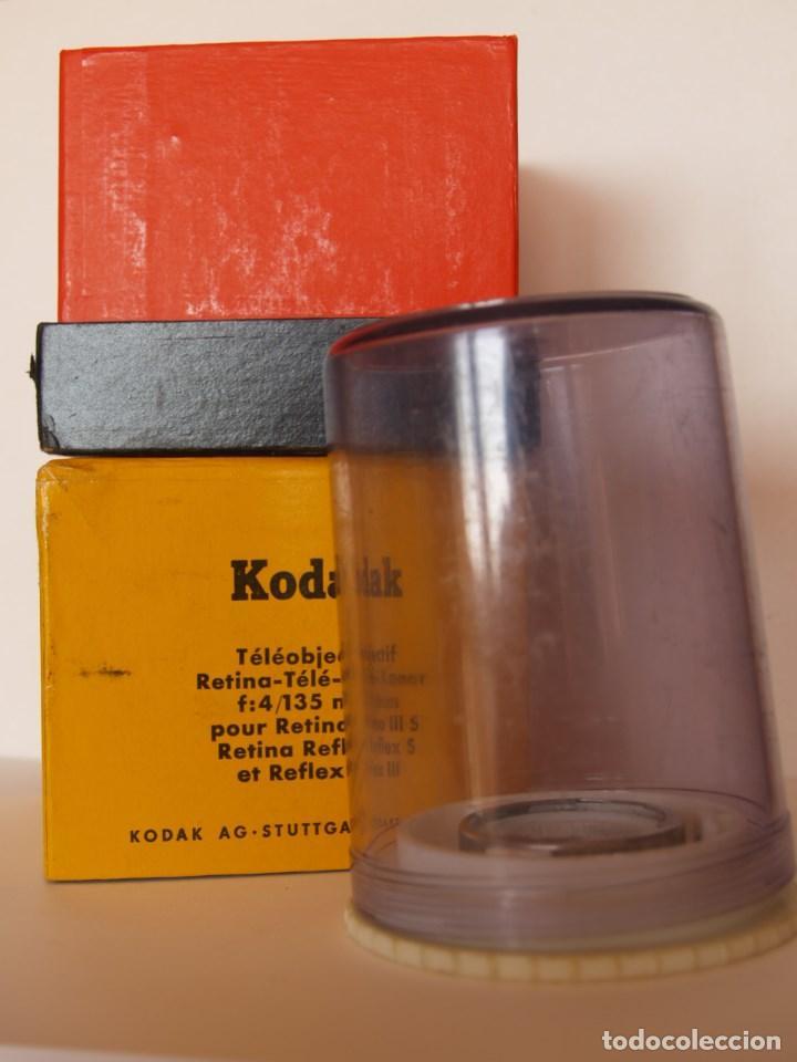 KODAK RETINA TELEOBJETIVO - TELE- XENAR F:4 135 MM / EMBALAJE ORIGINAL COMPLETO (Cámaras Fotográficas Antiguas - Objetivos y Complementos )