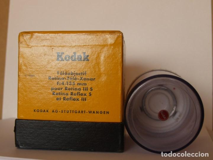 Cámara de fotos: KODAK RETINA TELEOBJETIVO - TELE- XENAR f:4 135 mm / EMBALAJE ORIGINAL COMPLETO - Foto 4 - 113346239
