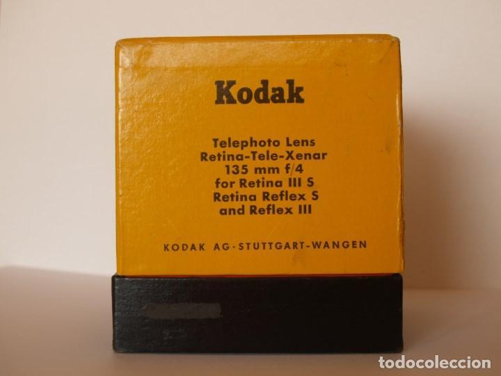 Cámara de fotos: KODAK RETINA TELEOBJETIVO - TELE- XENAR f:4 135 mm / EMBALAJE ORIGINAL COMPLETO - Foto 6 - 113346239
