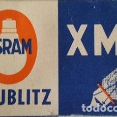 Cámara de fotos: ANTIGUO ESTUCHE DE 5 BOMBILLAS FLASH OSRAM VACUBLITZ - XM1B -. Lote 120932019