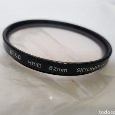 Cámara de fotos: FILTRO HOYA 62MM - SKYLIGHT (1A). Lote 121513247