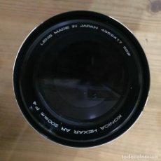Cámara de fotos: KONICA HEXAR AR 200 MM F4. Lote 121701123