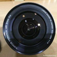Cámara de fotos: KONICA HEXANON 21MM F4 AR . Lote 121701271