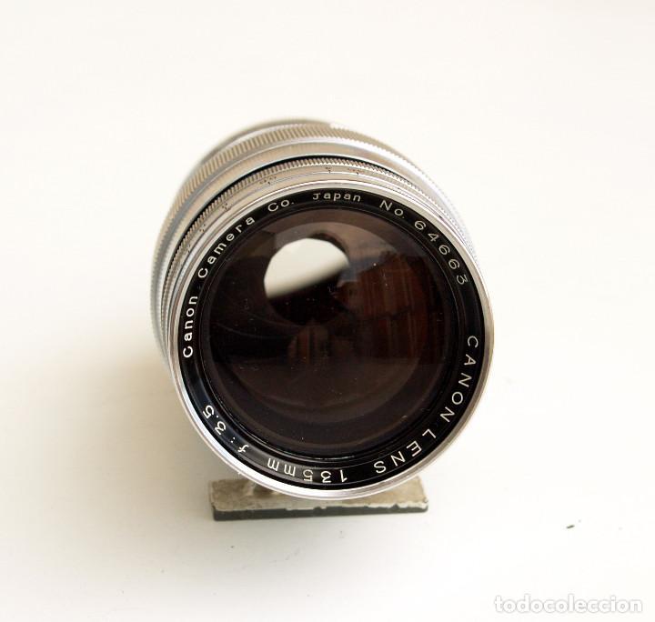 Cámara de fotos: *c1954* • Obj. clásico CANON f3.5 135mm para telemétrica • Leica LTM Canon m39 - Foto 2 - 122265919