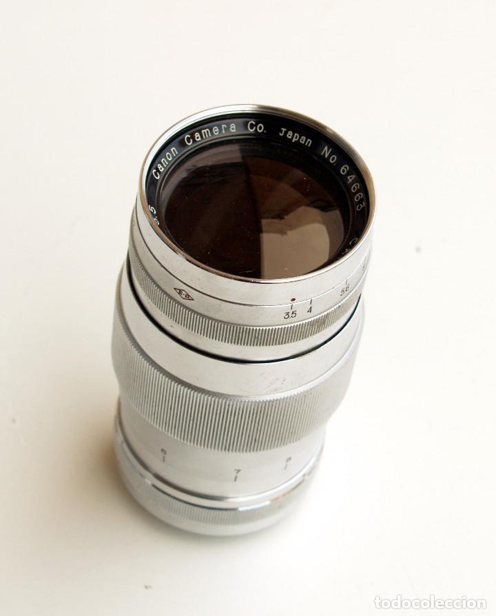 Cámara de fotos: *c1954* • Obj. clásico CANON f3.5 135mm para telemétrica • Leica LTM Canon m39 - Foto 3 - 122265919