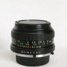 Cámara de fotos: MONTURA MINOLTA - SUNACTINON MC AUTO 28MM 1:2.8 + PARASOL - LENS MADE IN JAPAN. Lote 123368039