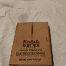 Cámara de fotos: CAJA KODAK CON 4 PLACAS DE CONTACTOS.. Lote 124315284