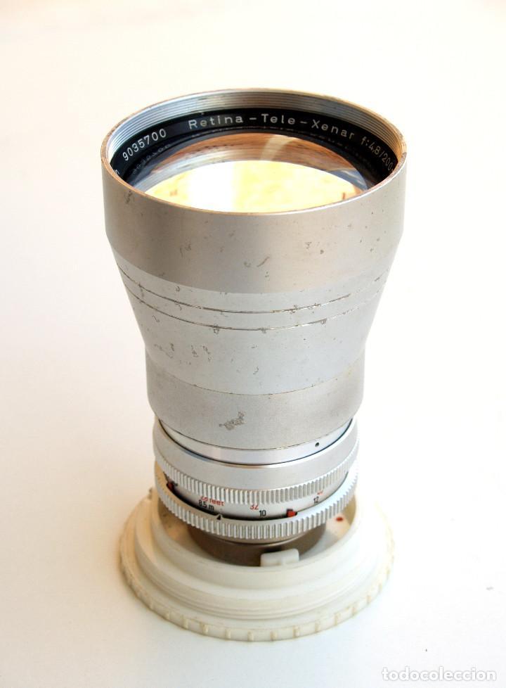 Cámara de fotos: Obj. Schneider Kreuznach RETINA TELE XENAR f4.8 200 mm SLR • Raro TELE para Retina Réflex - Foto 5 - 124623103