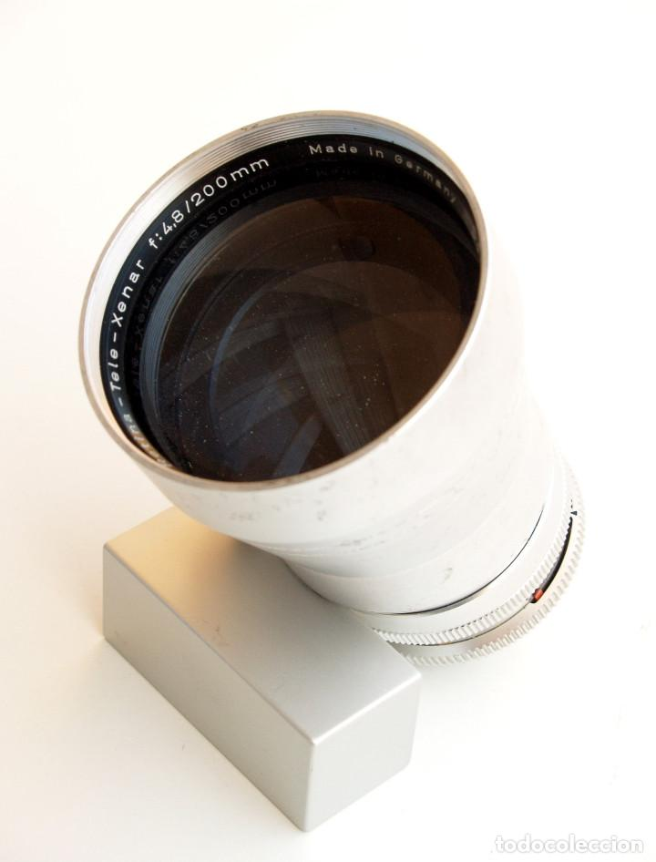 OBJ. SCHNEIDER KREUZNACH RETINA TELE XENAR F4.8 200 MM SLR • RARO TELE PARA RETINA RÉFLEX (Cámaras Fotográficas Antiguas - Objetivos y Complementos )