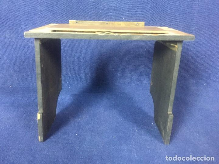 Cámara de fotos: tapa espejo fotografia complemento camara s XIX madera laton no fabricante 17,5x10x2,5cms - Foto 3 - 126328407