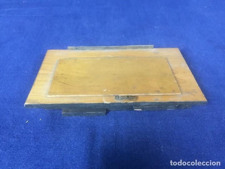 Cámara de fotos: tapa espejo fotografia complemento camara s XIX madera laton no fabricante 17,5x10x2,5cms - Foto 5 - 126328407