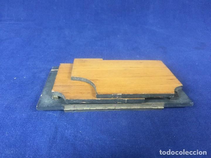 Cámara de fotos: tapa espejo fotografia complemento camara s XIX madera laton no fabricante 17,5x10x2,5cms - Foto 19 - 126328407