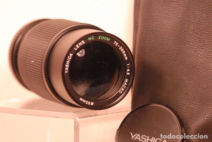 Cámara de fotos: objetivo yashica m c zoom 75-200 zoom 1,.4.5 macro tapas bolso - Foto 3 - 126348723