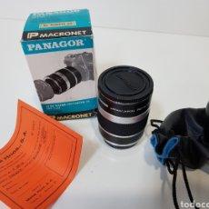 Cámara de fotos: NUEVO!! PANAGOR TELE MACRONET 3X TUBO CONVERTIDOR MACRO 1:1,5 / 1:2 / 1:5 PARA OLYMPUS / 50MM. Lote 127971200