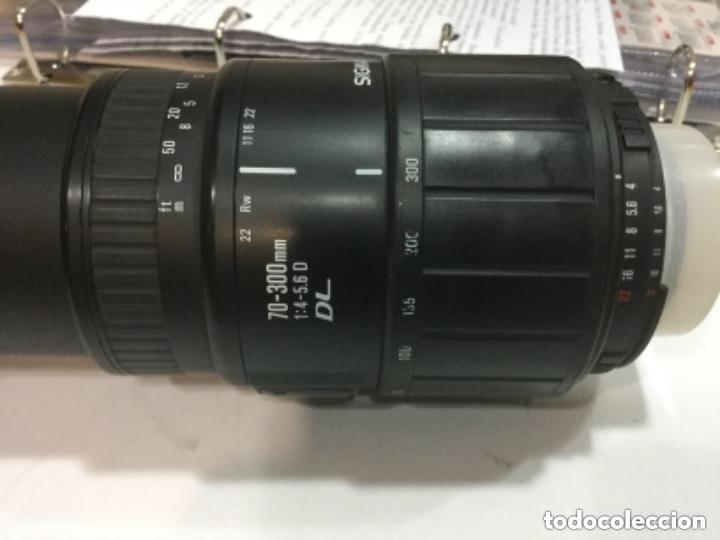Cámara de fotos: TELE OBJETIVO SIGMA 70 - 300 mm 1:4 - 5,6 D DL Nº 1008700 - Foto 11 - 128666759