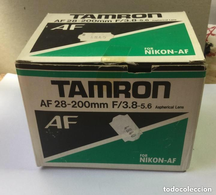 OBJETIVO ZOOM TAMRON AF 28-200 MM F/3,8-5,6 ASPHERICAL LENS. MODELO 71 D PARA NIKON-AF (Cámaras Fotográficas Antiguas - Objetivos y Complementos )