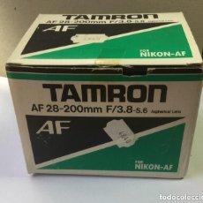 Cámara de fotos: OBJETIVO ZOOM TAMRON AF 28-200 MM F/3,8-5,6 ASPHERICAL LENS. MODELO 71 D PARA NIKON-AF. Lote 128667211