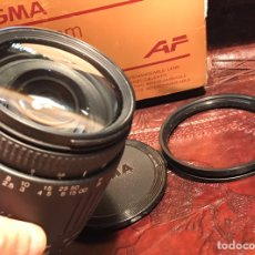 Cámara de fotos: OBJETIVO SIGMA 28-200 MM. F3.8-5.6. CASI SIN USO. Lote 130324710