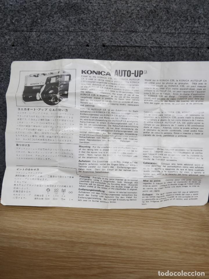 Cámara de fotos: KONICA AUTO-UP ca, 100-50cm, para KONICA C35. Con estuche e instrucciones originales. - Foto 3 - 130772616