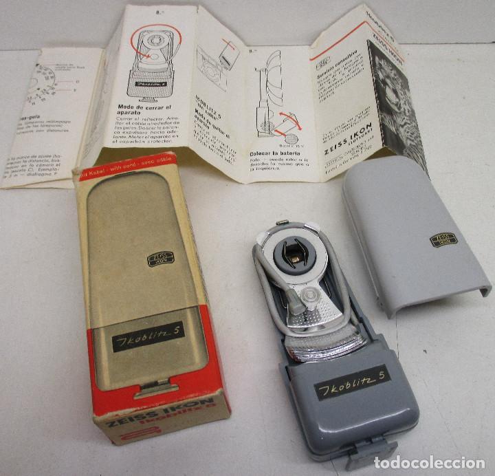 Cámara de fotos: FLASH ZEISS IKON IKOBLITZ 5, CON CAJA E INSTRUCCIONES, años 60 - Foto 2 - 131338198